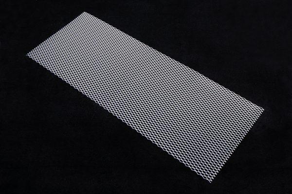 Ромб 100х40 Крупный алюминий Общий вид