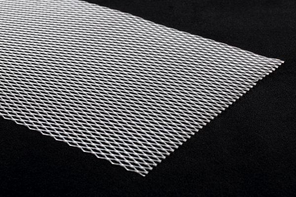 Ромб 100х40 Крупный алюминий Торец